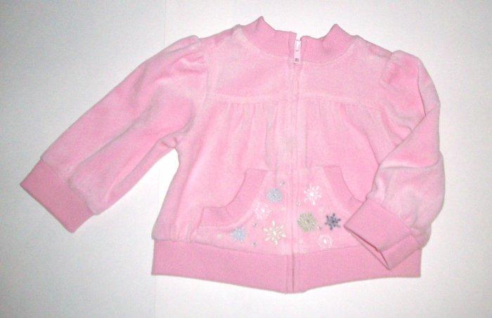 GYMBOREE NWT Snow Princess Velour Jacket 12-18m