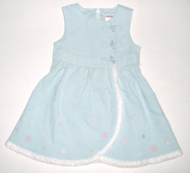 GYMBOREE NWT Snow Princess Corduroy Dress 12-18m