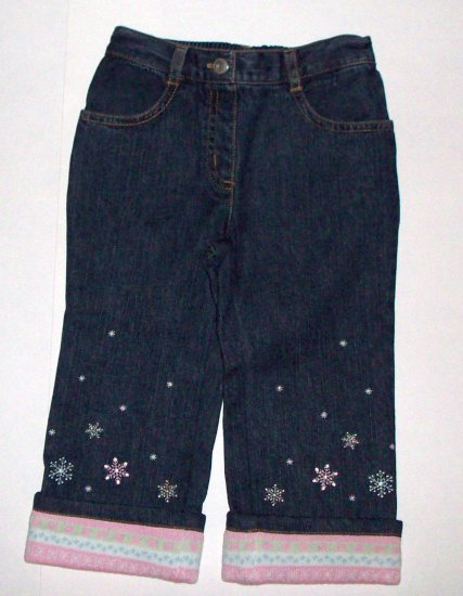 GYMBOREE NWT Snow Princess Denim Jeans 18-24m