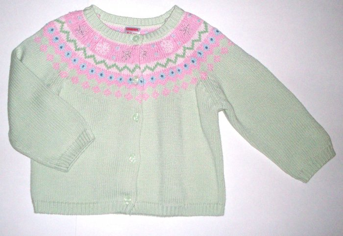 GYMBOREE NWT Snow Princess Green Sweater 3T