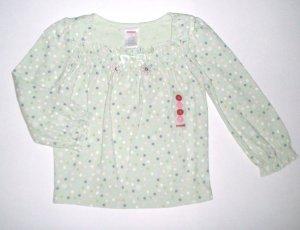 GYMBOREE NWT Snow Princess Green Polka Dot Top 4