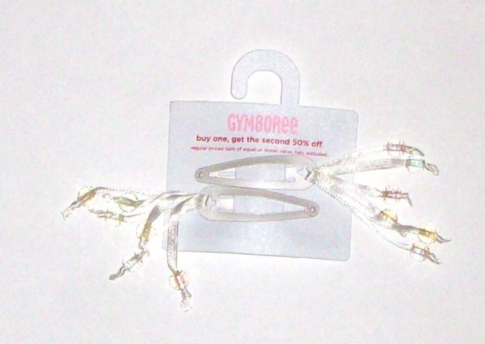 GYMBOREE NWT Snow Princess Bead Hair Clips