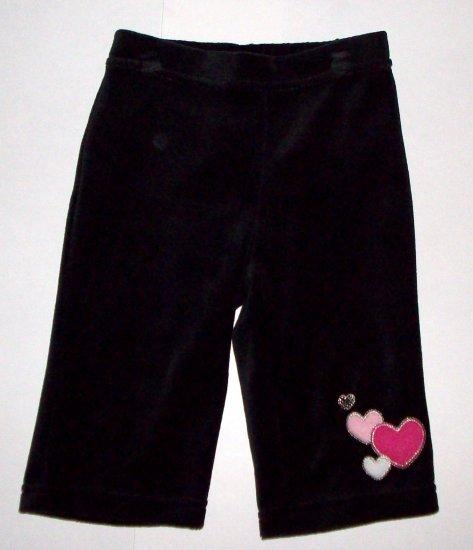 GYMBOREE NWT Tres Chic Black Velour Pants 3-6m