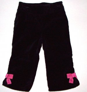 GYMBOREE NWT Tres Chic Black Bow Pants 12-18m