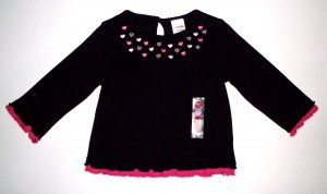 GYMBOREE NWT Tres Chic Black Top 12-18 m