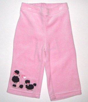 GYMBOREE NWT Tres Chic Pink Velour Pants 18-24m