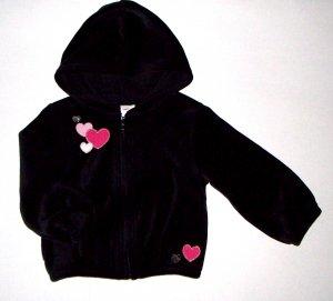 GYMBOREE NWT Tres Chic Black Velour Jacket 18-24m