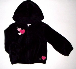 GYMBOREE NWT Tres Chic Black Velour Jacket 2T