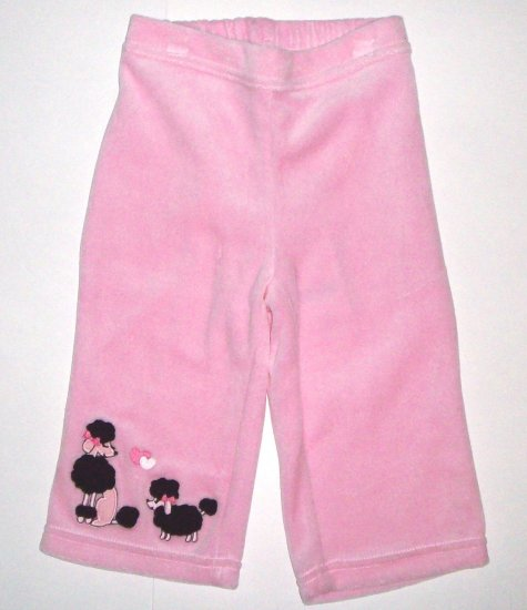GYMBOREE NWT Tres Chic Pink Velour Pants 4T