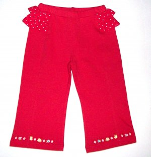 GYMBOREE NWT Wish You Were Here Red Knit Pants 18-24m