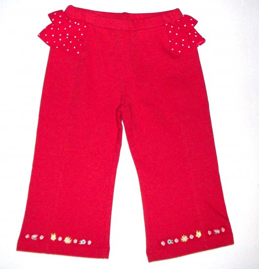GYMBOREE NWT Wish You Were Here Red Knit Pants 2T