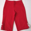 GYMBOREE NWT Wish You Were Here Red Knit Capris 4
