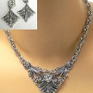 vintage reproduction crystal necklace set 743