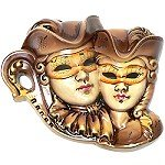 Masked Lovers Wall Mask