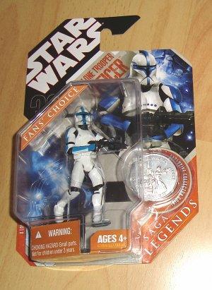 Star Wars 30th Anniversary / Saga Legends : Clone Trooper Officer - Lieutenant (Blue)