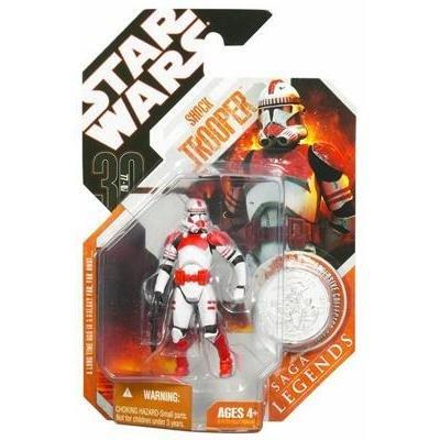 Star Wars 30th Anniversary / Saga Legends : Shock Trooper w/ Coin