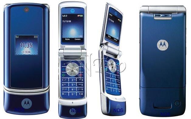 Motorola KRZR K1 'BLUE' Mobile Cellular Phone (Unlocked)