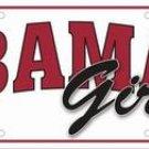 "Bama ""Girls"" License Plate"
