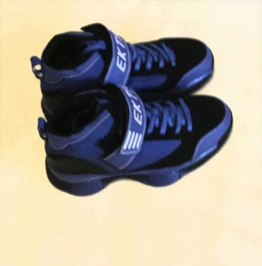 Ektio Post Up Blue/Black Ankle Support Basketball Shoes Size 8