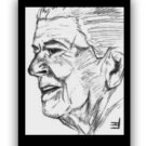 "Reagan Sketch Postcard 4.25""x6"""