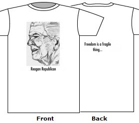 Reagan Republican white t shirt cotton