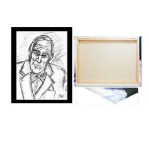 FDR 16 x 20 Blk Border wrapped edge canvas print