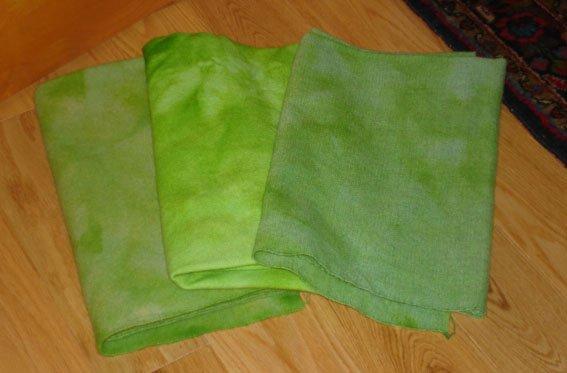 Garden Lettuce rug hooking wool -- Woolly Mammoth Woolens