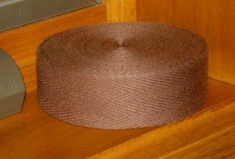 MEDIUM BROWN rug binding tape for rug hooking -- Woolly Mammoth Woolens