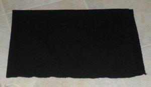 """Black """"as is"""" wool for rug hooking, 1/4 yard -- Woolly Mammoth Woolens"""