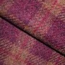 BURGUNDY/BROWN PLAID as is wool for rug hooking -- Woolly Mammoth Woolens