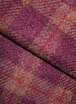 BURGUNDY/BROWN PLAID as is wool for rug hooking -- Woolly Mammoth Woolens