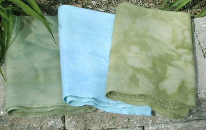 GRASS AND SKY overdye wool for rug hooking -- Woolly Mammoth Woolens