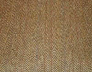BROWN HERRINGBONE as is wool for rug hooking -- Woolly Mammoth Woolens