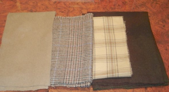 BROWN MIX wool for rug hooking -- Woolly Mammoth Woolens