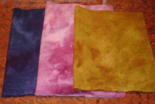 3 MIXED FAVORITES wool for rug hooking -- Woolly Mammoth Woolens