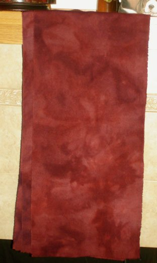 MEXICAN BEAN RED overdye wool for rug hooking -- Woolly Mammoth Woolens
