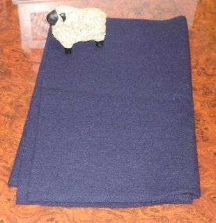"NAVY BLUE ""as is"" wool for rug hooking -- Woolly Mammoth Woolens"