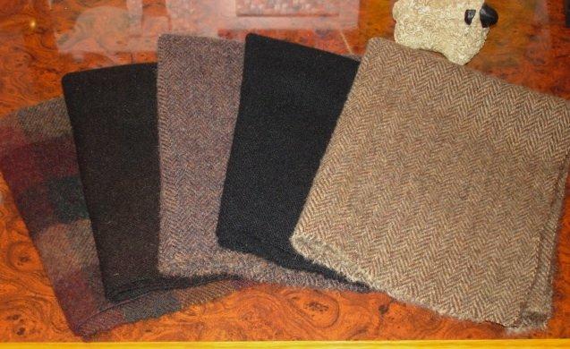 DARK BROWN/BLACK wool for rug hooking 5/8 yard -- Woolly Mammoth Woolens