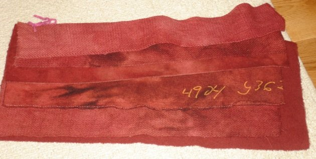 PRIMITIVE FLAG RED overdye wool for rug hooking -- Woolly Mammoth Woolens
