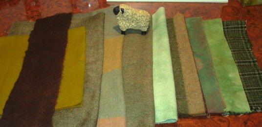 GREENS GALORE wool for rug hooking -- Woolly Mammoth Woolens