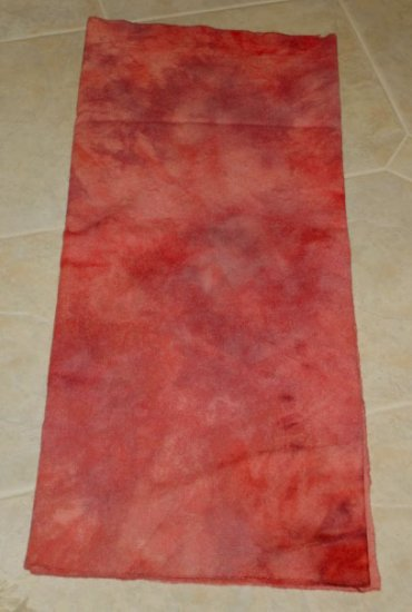 POMEGRANATE overdye wool rug hooking 1/4 yard -- Woolly Mammoth Woolens
