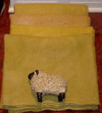 GINGER BEER overdye wool for rug hooking -- Woolly Mammoth Woolens
