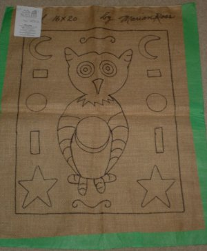 WHIMSICAL OWL Pattern for Rug Hooking -- Woolly Mammoth Woolens