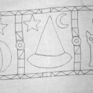 HALLOWEEN SYMBOLS pattern for rug hooking -- Woolly Mammoth Woolens