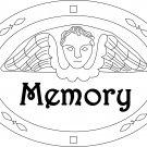 MEMORY TOMBSTONE rug hooking pattern -- Woolly Mammoth Woolens