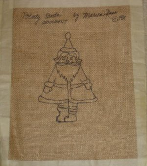 POINTY SANTA rug hooking pattern -- Woolly Mammoth Woolens