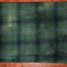 GREEN HEDGE PLAID overdye wool for rug hooking and penny rugs -- Woolly Mammoth Woolens
