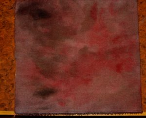DARK MAROON/RUST overdye texture wool for rug hooking and penny rugs -- Woolly Mammoth Woolens