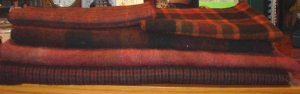 RUST MIX (5 piece set) overdye wool for rug hooking and penny rugs -- Woolly Mammoth Woolens