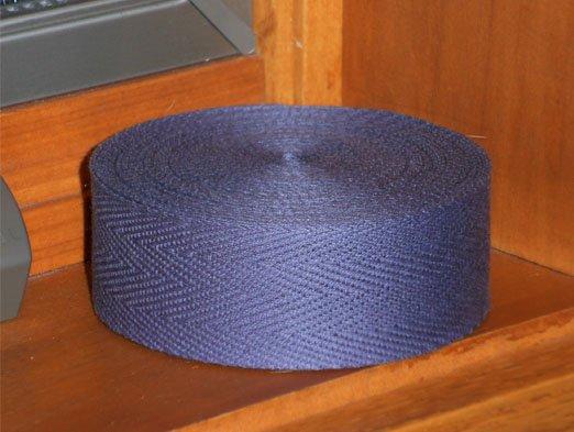 Dark Gray binding tape 10 yards for rug hooking -- Woolly Mammoth Woolens